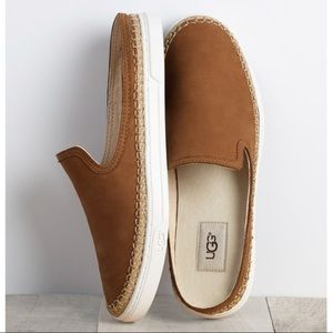 Ugg Caleel Leather Slip On Shoes